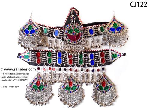 New Afghan kuchi white jewellery sets