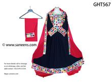afghan fashion online handmade dress with mirror work