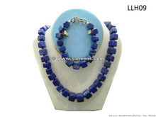 traditional afghan lapis stone bridal set, kuchi ladies lapis stone bracelet and necklace