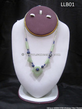 afghan jade stone necklace