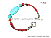 afghan turquoise stone beads bracelet