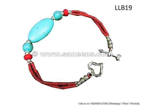 afghan turquoise stone beads bracelet