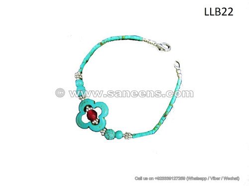 afghan turquoise stone bracelet
