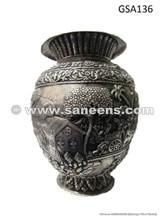 genuine afghan silver metal antique vase artifact