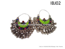 afghan jewelry, nomad chic earrings