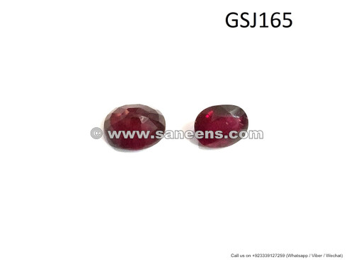 hand cut genuine ruby stone