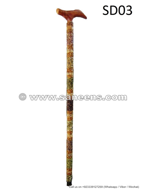 tribal fusion stick with gemstones