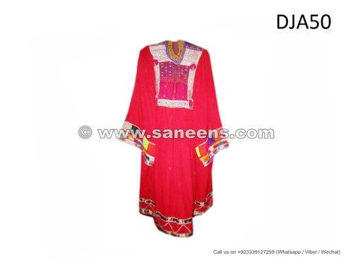 afghan kuchi ethnic clothes online, tribal artwork silk embroidered dresses