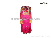 tribal vintage dress, handmade kuchi fashion ethnic clothes