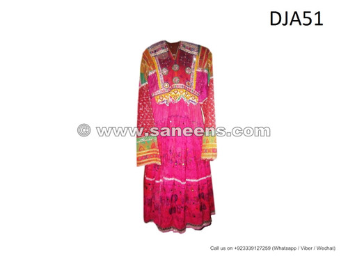 tribal vintage dress, handmade kuchi fashion ethnic clothes