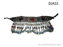 handmade kuchi tribal choker, tribal artwork necklace