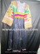 afghan vintage dress with beaded waist belt