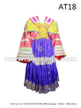 afghan kuchi vintage dress in blue color
