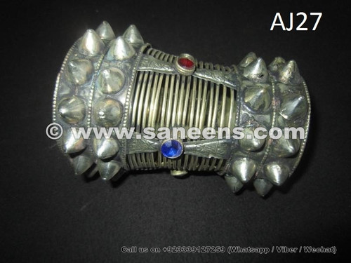 afghan jewelry cuffs with large spikes