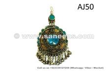 afghan kuchi pendant tika with feroza stones