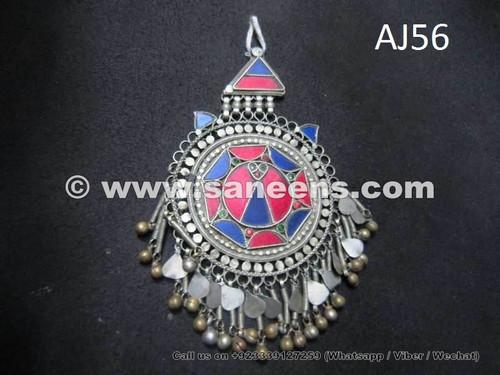 afghan forehead jewelry pendant, kuchi tribal bindi