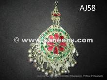 afghan kuchi forehead pendant