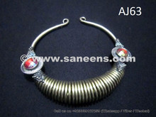 afghan kuchi spiral necklace