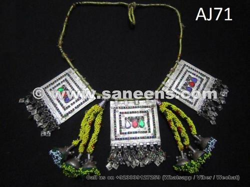 balochi necklaces, kuchi tribal chokers