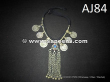 wholesale kuchi jewelry, balochi tribal chokers with coins