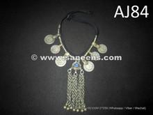 wholesale kuchi jewelry, balochi tribal chokers with coins
