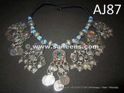 afghan kuchi coin necklace