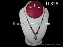 afghan kuchi necklace with turquoise stones