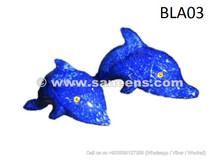 Dolphins pair made of Lapis Lazuli