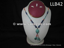 afghan kuchi lockets in lapis and turquoise stones