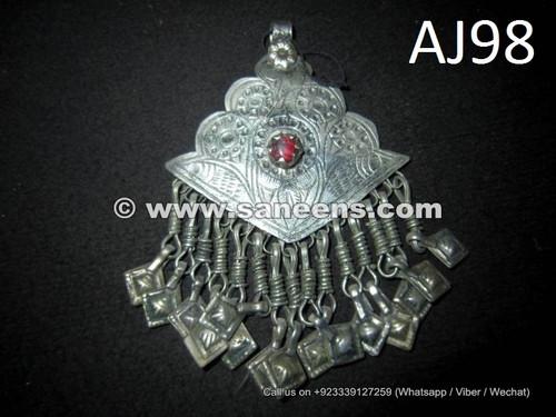buy wholesale kuchi jewellery pendants with precious stones