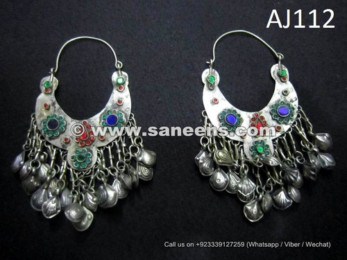 shop online kuchi jewellery in wholesale, afghan gypsy earrings