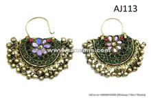 kuchi afghan traditional earrings in wholesale, ats boho chic fashion handmade jewelry earrings