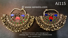 afghan jewelry, kuchi banjara earrings