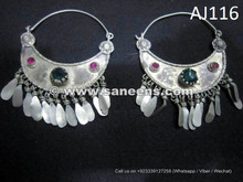 wholesale kuchi afghan earrings, ats bellydance performers earrings