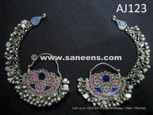 afghan kuchi earrings with stones in wholesale