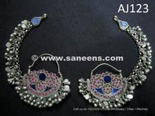 afghan kuchi earrings with stones in wholesale