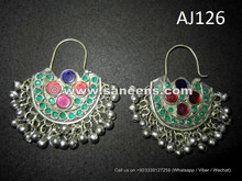 kuchi afghan handmade earrings for bellydance performers