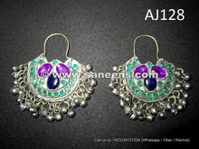 wholesale kuchi afghan traditional earrings with stones