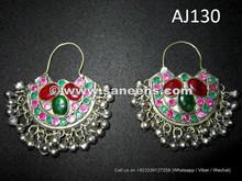 wholesale afghan kuchi earrings with stones