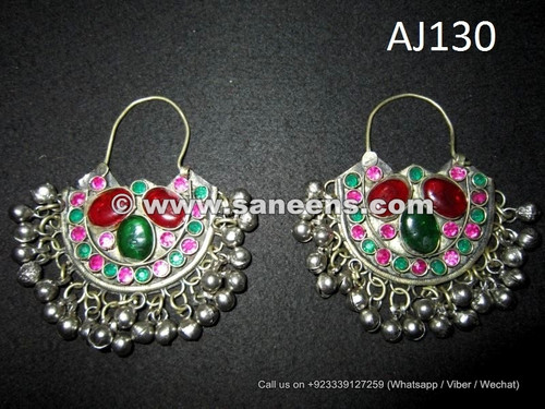 wholesale afghan kuchi earrings with stones