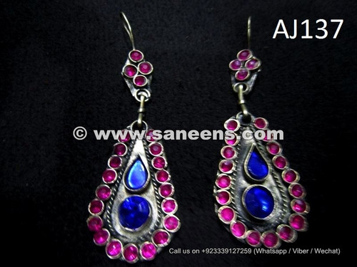 wholesale kuchi ethnic earrings with stones