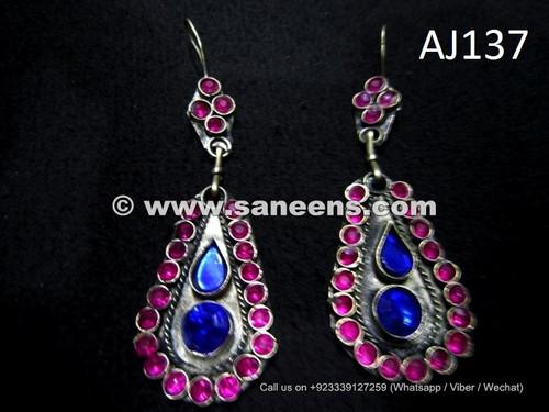 wholesale kuchi ethnic earrings with stones