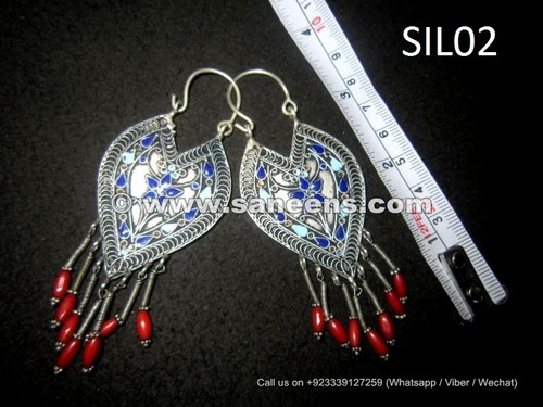 wholesale afghan kuchi earrings in silver