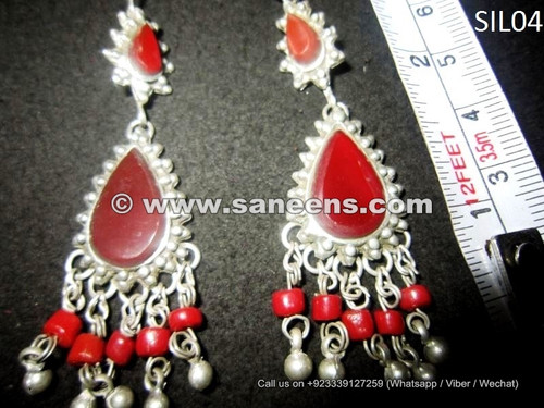 afghan kuchi wholesale earrings with agate stones