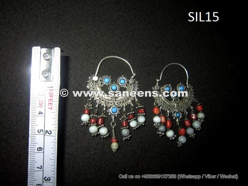 wholesale kuchi tribal earrings in pure silver
