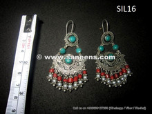 afghan jewelry in pure silver and precious stones