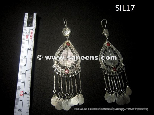 kuchi tribal earrings in pure silver