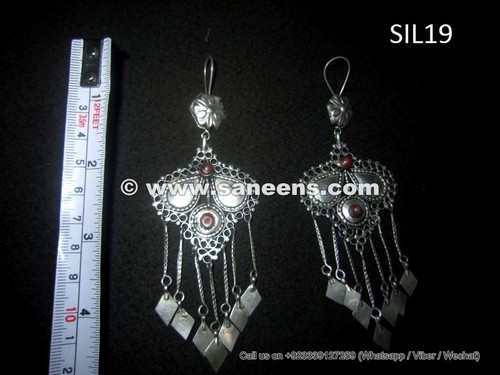 wholesale kuchi jewellery earrings, odissi tribal jewelry in silver