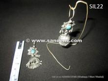 afghan kuchi banjara earrings in pure silver, gypsy river handmade jhumkey