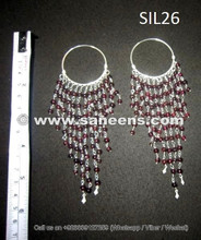 afghan jewelry earrings in pure silver